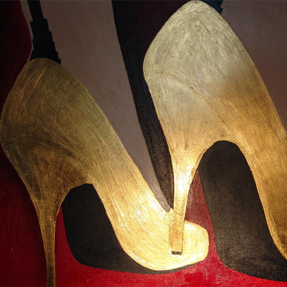 Die goldenen Schuhe - Bildausschnitt